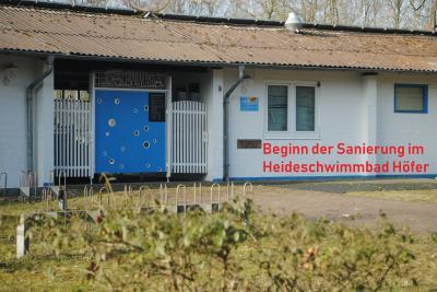 Foto zur Meldung: Beginn der Sanierung im Heideschwimmbad Höfer