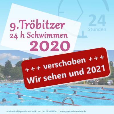 Foto zur Meldung: 9.. Tröbitzer 24 Stunden Schwimmen verschoben auf 2021