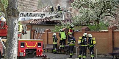 Foto zur Meldung: Feuer im Kyritzer Stadzentrum