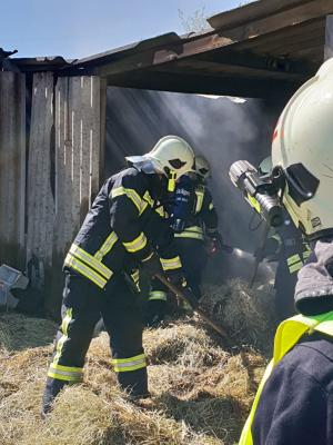 Foto zur Meldung: Feuer im Grebser Pferdestall