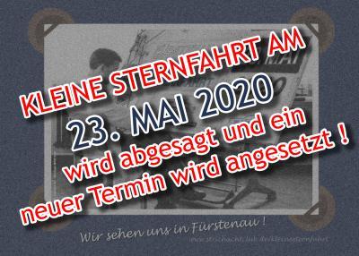 Absage Kleine Sternfahrt 2020