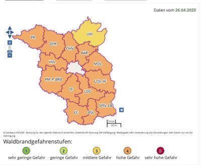 Bild der Meldung: Hohe Waldbrandgefahr in Brandenburg und MOL