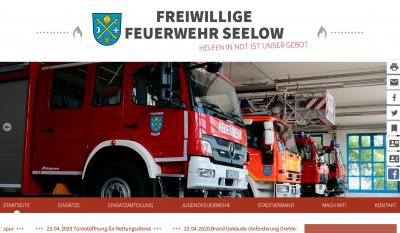 Vorschaubild zur Meldung: Neue Webpräsenz der Freiwilligen Feuerwehr Seelow