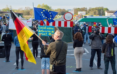 Protest am Grenzübergang Rosow