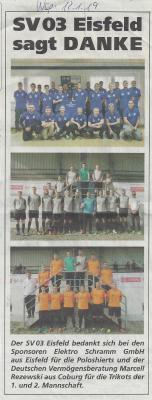 Foto zur Meldung: Sponsoren Fußball (Wochenspiegel)