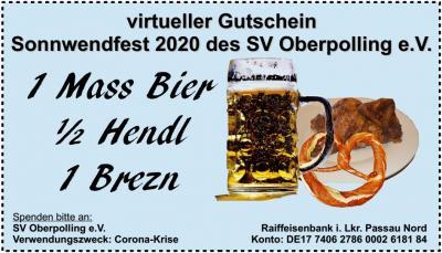virtueller Gutschein Sonnwendfest 2020