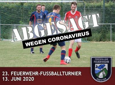 Fußballturnier wegen Coronavirus abgesagt