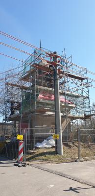 Bild der Meldung: Fördervorhaben Sanierung altes Trafohaus als Rastplatz am Lutherweg Leisenauer Dorfstraße in Leisenau Ident-Nr.: 592017010801LDR