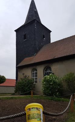 Bienenwiese vor der Kirche
