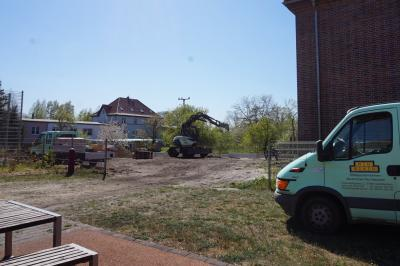 Foto zur Meldung: Baufortschritt in der Friedrich-Hoffmann-Oberschule