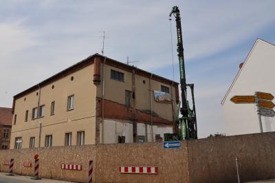 Derzeitige Arbeiten an der Brennerei im Klosterviertel