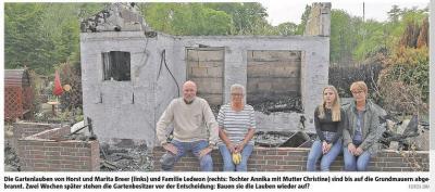 Ruinen erinnern an den Brand