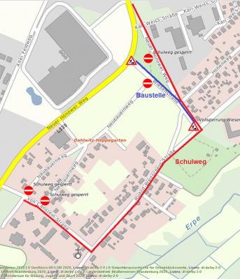 Bild der Meldung: Achtung - geänderter Schulweg durch Baustelle!