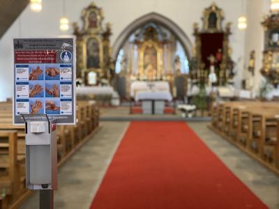 Bild der Meldung: Schutzmaßnahmen bei öffentlichen Gottesdiensten in unserer Pfarrgemeinde