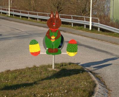 Ostergruß des Struckumer Bauhofs. Foto: W. Kühl-Tessin