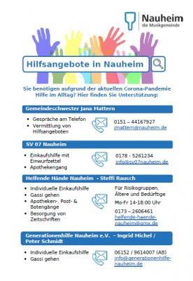 Foto zur Meldung: Hilfsangebote in Nauheim auf einen Blick