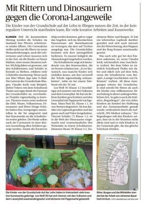 Foto zur Meldung: Kreative Schülerarbeiten in der Coronazeit