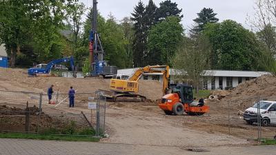 Vorschaubild zur Meldung: Bauarbeiten am Sächsischen Krankenhaus