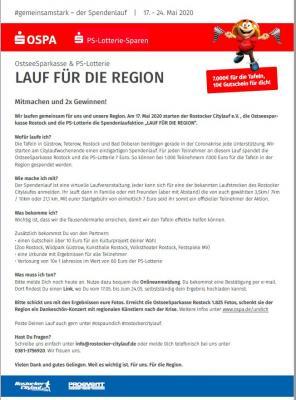 Vorschaubild zur Meldung: Mitmachen! Spendenlauf in Rostock