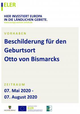 Vorschaubild zur Meldung: Beschilderung für den Geburtsort Otto von Bismarcks