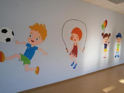 """Wandbilder in der KiTa """"Pusteblume"""""""