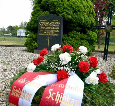 Vorschaubild zur Meldung: Gedenken an historischen Moment: Schipkau gedenkt dem Kriegsende vor 75 Jahren