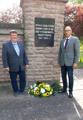 Foto zur Meldung: Gedenken an den Tag der Befreiung vor 75 Jahren