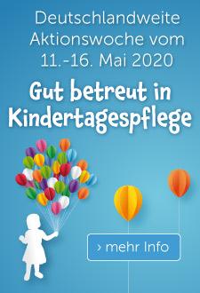Bild der Meldung: Gut betreut in Kindertagespflege! - Bundesweite Aktionswoche vom 11.-16. Mai 2020