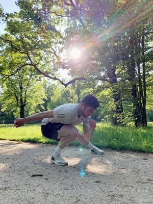 Adrian Lüdtke: Training an der frischen Luft. Foto: privat