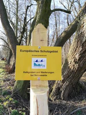 Vorschaubild zur Meldung: Kennzeichnung Natura 2000 Schutzgebiet in Sonnewalde