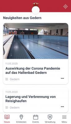 """Foto zur Meldung: Neue Stadt-App """"meinOrt"""" für die Vulkanstadt Gedern"""