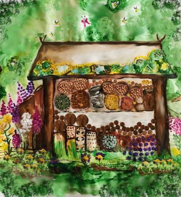 Foto zur Meldung: Insektenhotel Grand Hotel Anthopila im Garten des Salzmuseums: Diversität jetzt!