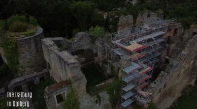 Beginn der Sanierung der Dalburg