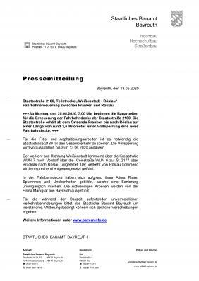Vorschaubild zur Meldung: Vollsperrung-Staatstraße 2180-ab 25.05.2020