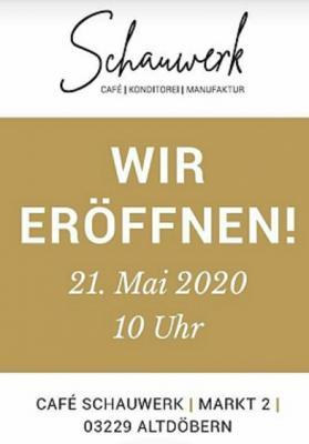 Foto zur Meldung: Eröffnung Cafe Schauwerk am 21. Mai