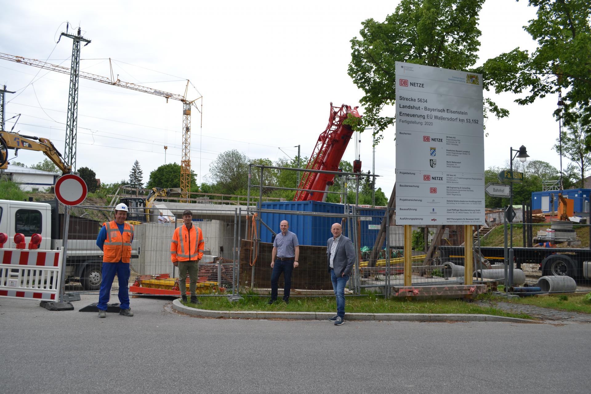 Bild der Meldung: Ende der Bauarbeiten an der Bahnunterführung absehbar