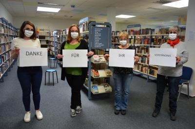 Das Team der Stadtbibliothek dankt den Nutzern für ihr Verständnis in der aktuellen Situation I Foto: Martin Ferch