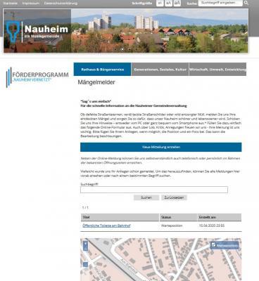 Foto zur Meldung: Digitaler Mängelmelder der Gemeinde Nauheim ist online