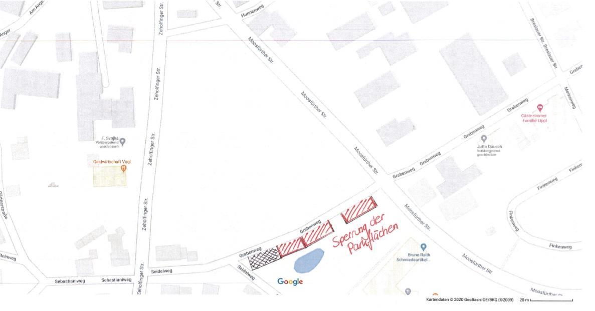 Bild der Meldung: Sperrung öffentlicher Parkplatz