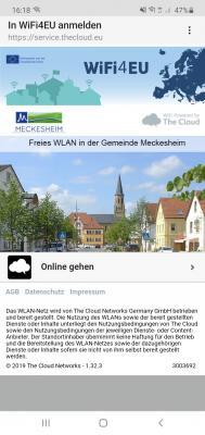 Landingpage - WiFi4EU in Meckesheim und Mönchzell