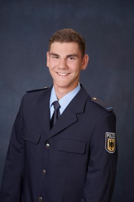 Lukas Mann, in Ausbildung bei der Bundespolizei. Foto: Bundespolizei