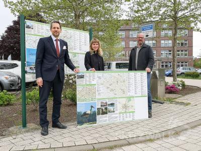 Foto zur Meldung: Neue Wohnmobilwegweiser in Pritzwalk aufgestellt
