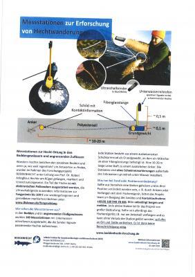 Vorschaubild zur Meldung: Messstationen zur Erforschung von Hechtwanderungen