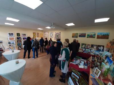 Foto zur Meldung: 1. Grünheider Kunstmesse präsentierte kreative Kunstwerke