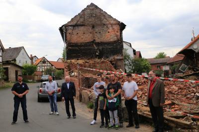 Bild der Meldung: Nach Großbrand in Bodes - Dankeschön für Spenden