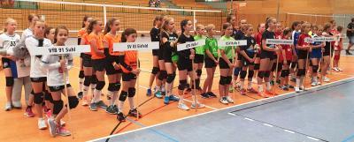 Foto zur Meldung: Mitteldeutsche Meisterschaft der U12 und U13 im Hallen-Volleyball in Suhl