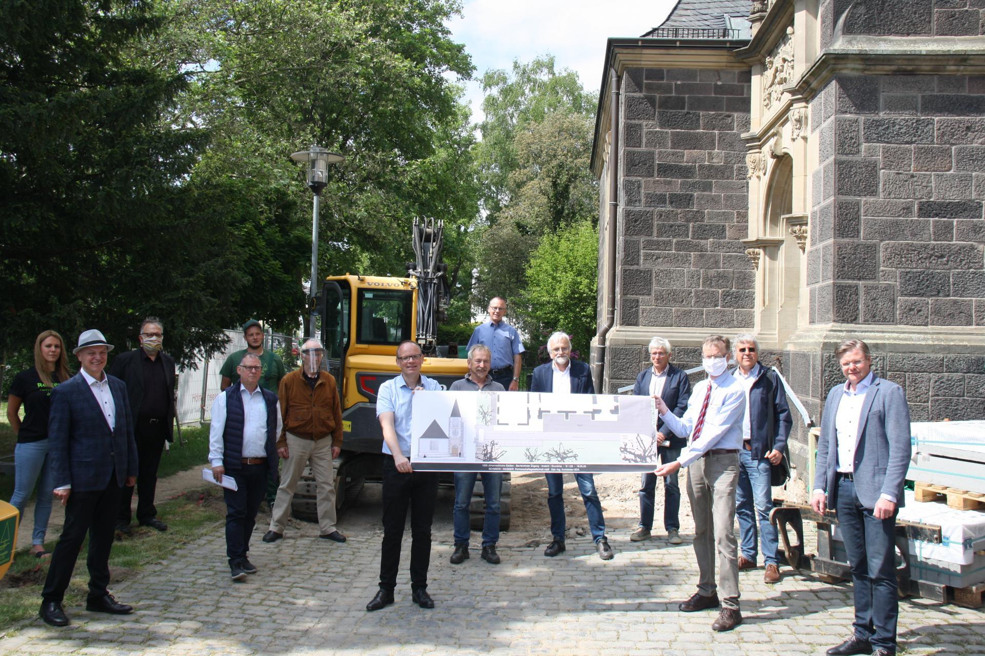 Bild der Meldung: Neuer barrierefreier Zugang zur Johanneskirche – Beginn der Bauarbeiten am 20. Mai 2020