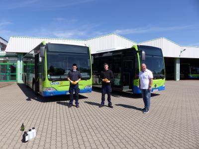 Foto zur Meldung: regiobus setzt neuartiges Flächendesinfektionsmittel mit Langzeitwirkung ein