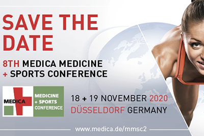 Bild der Meldung: Save-the-date: 8. MEDICA MEDICINE + SPORTS CONFERENCE 2020 in Düsseldorf