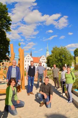 Foto zur Meldung: Bewegungslandschaft am Schloss Doberlug eröffnet
